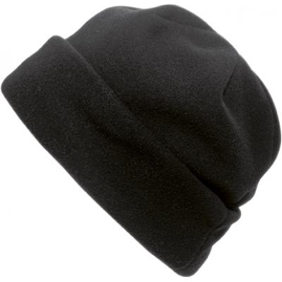 Image of Polyester fleece beanie.