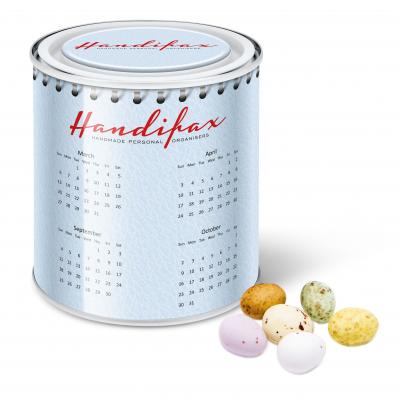Image of Calendar Tin Speckled Chocolate Eggs