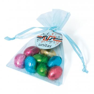 Image of Organza Bag – Foil Wrapped Chocolate Eggs