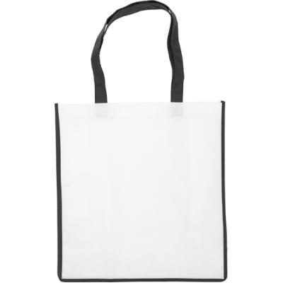Image of Nonwoven bag with coloured trim.
