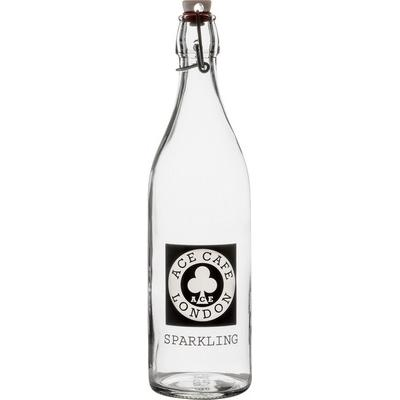 Image of 1 Litre Round White Cap Swing Top Bottle
