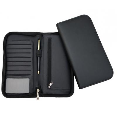 Image of Clapham PU Deluxe Zipped Travel Wallet