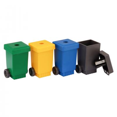 Image of Recycled Pencils Sharpeners - Wheelie Bin